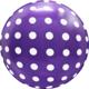 SMP dots bubble balloon purple 45 cm