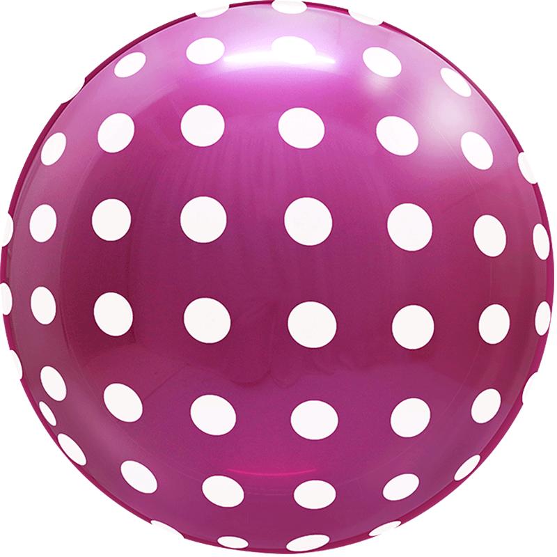 SMP dots bubble balloon magenta 45 cm
