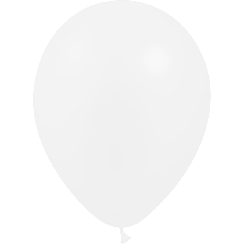 SMP 25 x latex balloons transparant 12,5 cm 100 % biodegradable