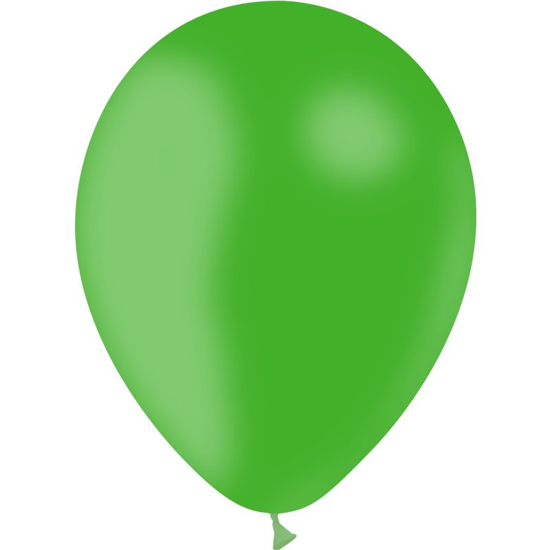 SMP 25 x latex balloons green 12,5 cm 100 % biodegradable