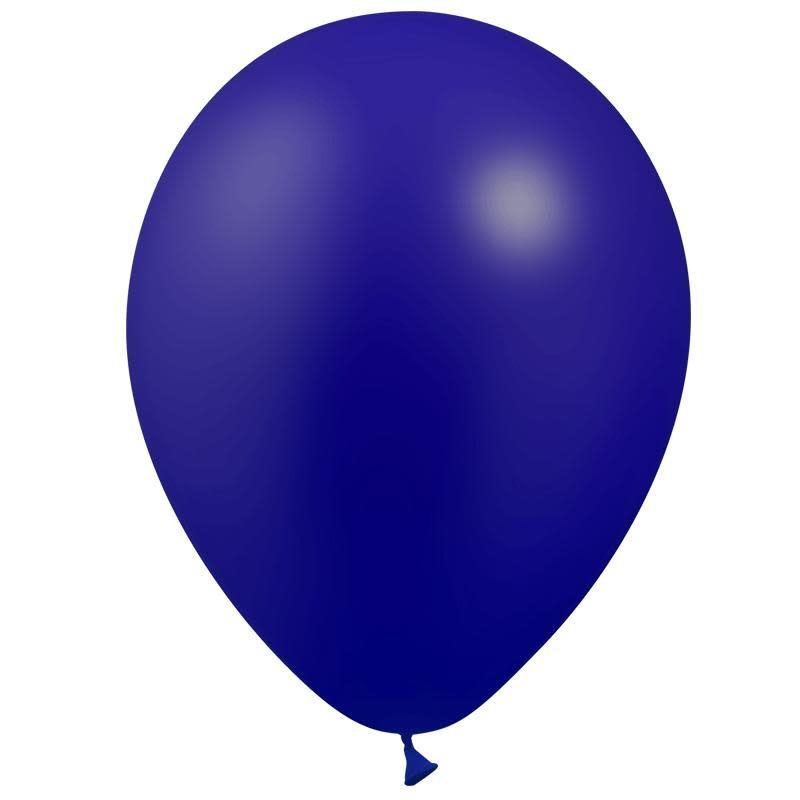 SMP 12 x metallic navy blue latex balloons 28 cm 100% biodegradable