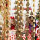 PD Backdrop - Christmas trees, gold, 100x245cm