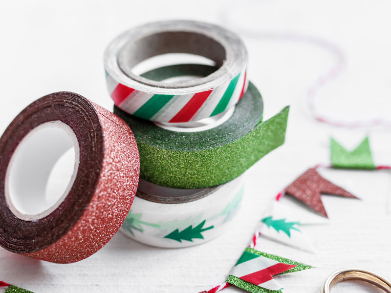 PD Decorative tape Merry Xmas, mix