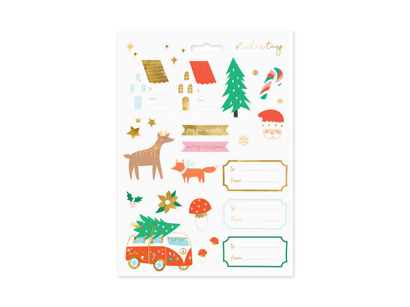 PD Christmas stickers Winter forest, mix
