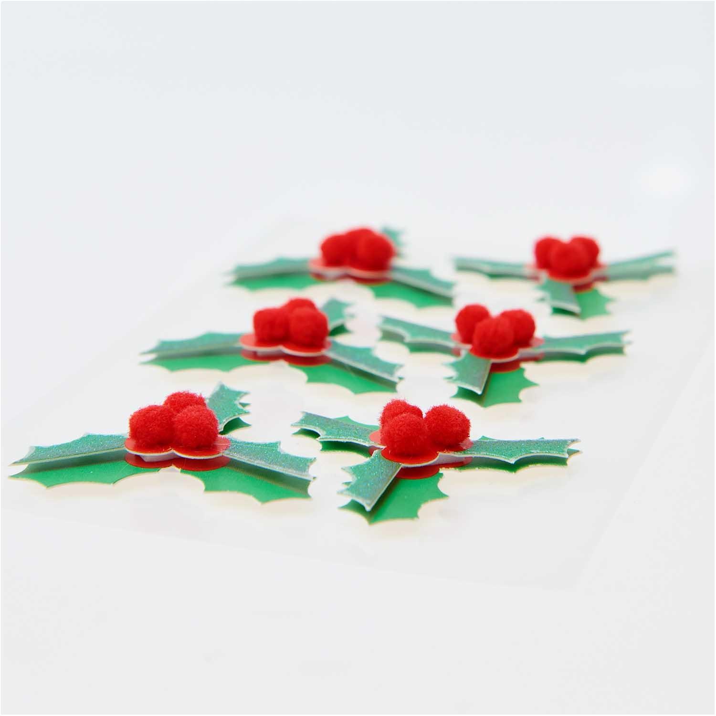Rico NAY 3D stickers Merry Christmas, ilex FSC MIX