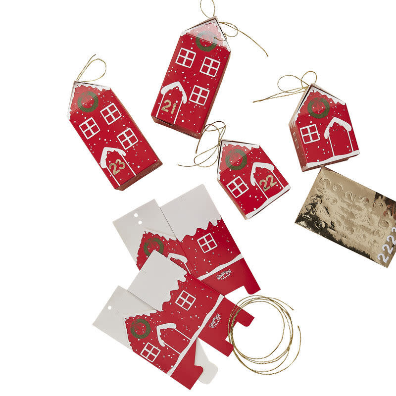 GINGERRAY Fill Your Own Festive House Advent Calendar Boxes