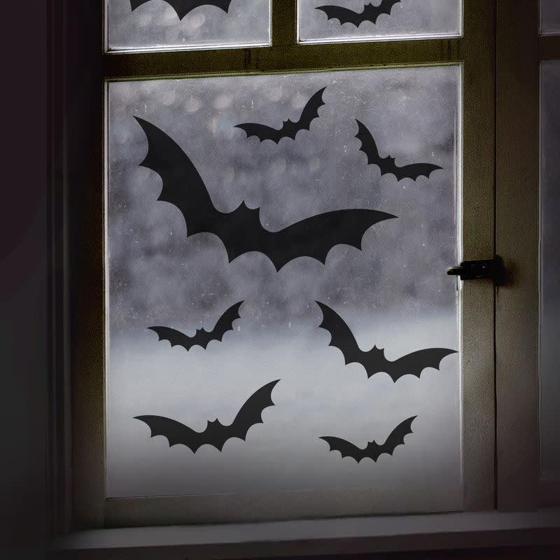 GINGERRAY Black Bat Halloween Window Stickers
