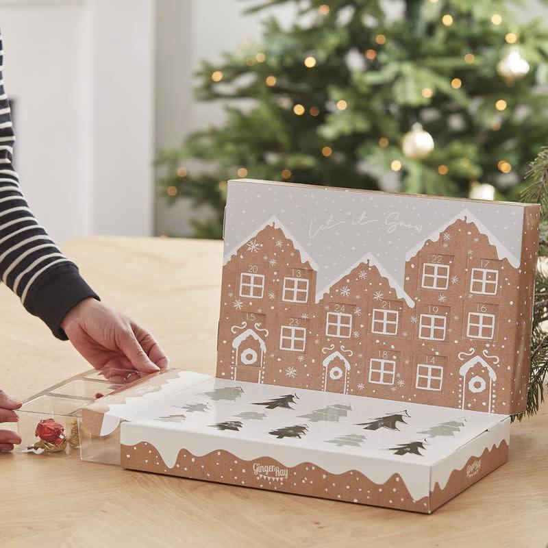 GINGERRAY Fill Your Own Pop Up Festive Snow Scene Advent Calendar