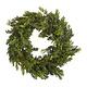 GINGERRAY Cedar Pine Foliage Christmas Wreath with Lights