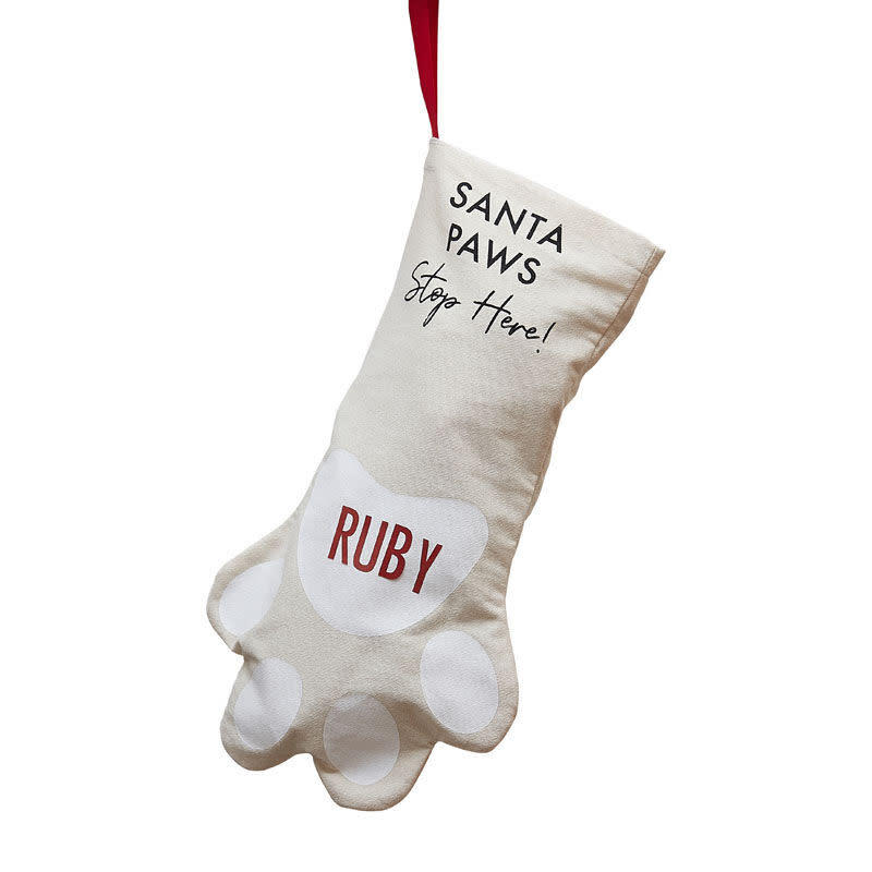GINGERRAY Customisable Dog Christmas Stocking