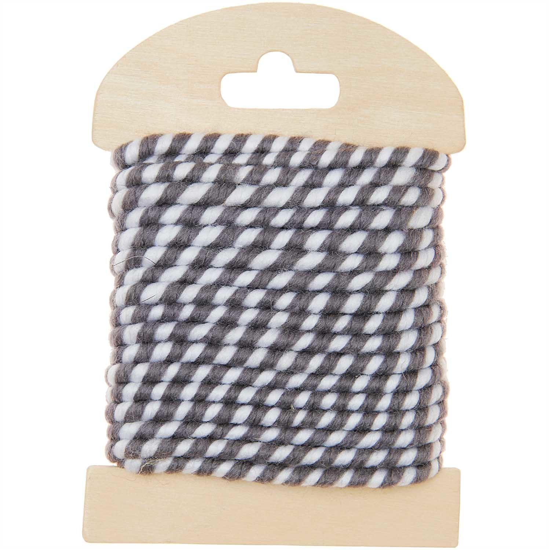 Rico NAY Deco cord, 5m, two-tone, grey-white