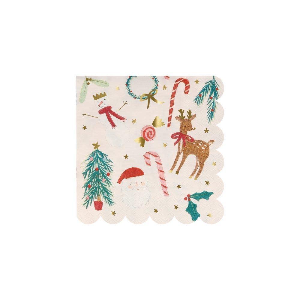 MERIMERI Festive motif napkins S
