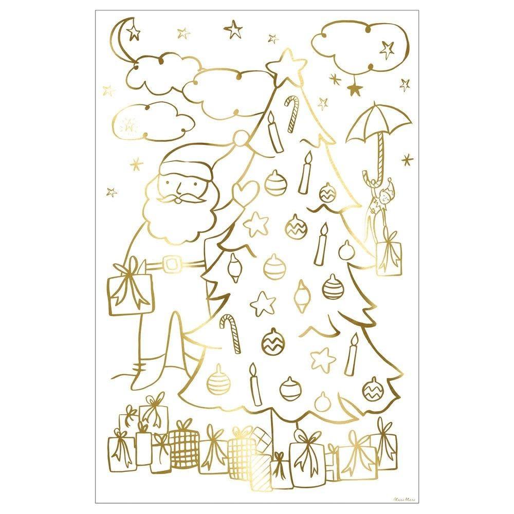 MERIMERI Christmas coloring poster