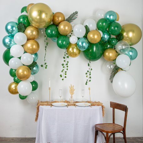 AF balloon arch kit green 86 balloons with extra greens
