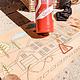 AF fireman DIY color poster table runner kraft