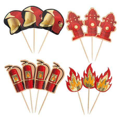 AF fireman paper sticks 8/9 cm 12 x