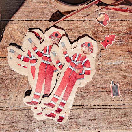 AF fireman paper napkins 32,5 x 17,5 cm 16 x