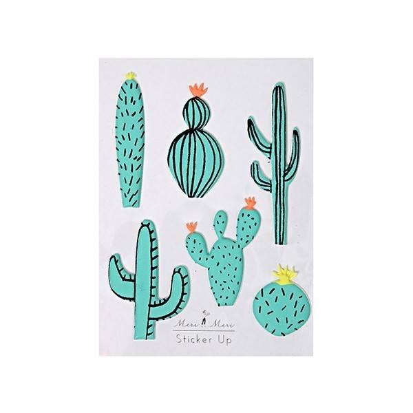 MERIMERI Cactus 3D stickers