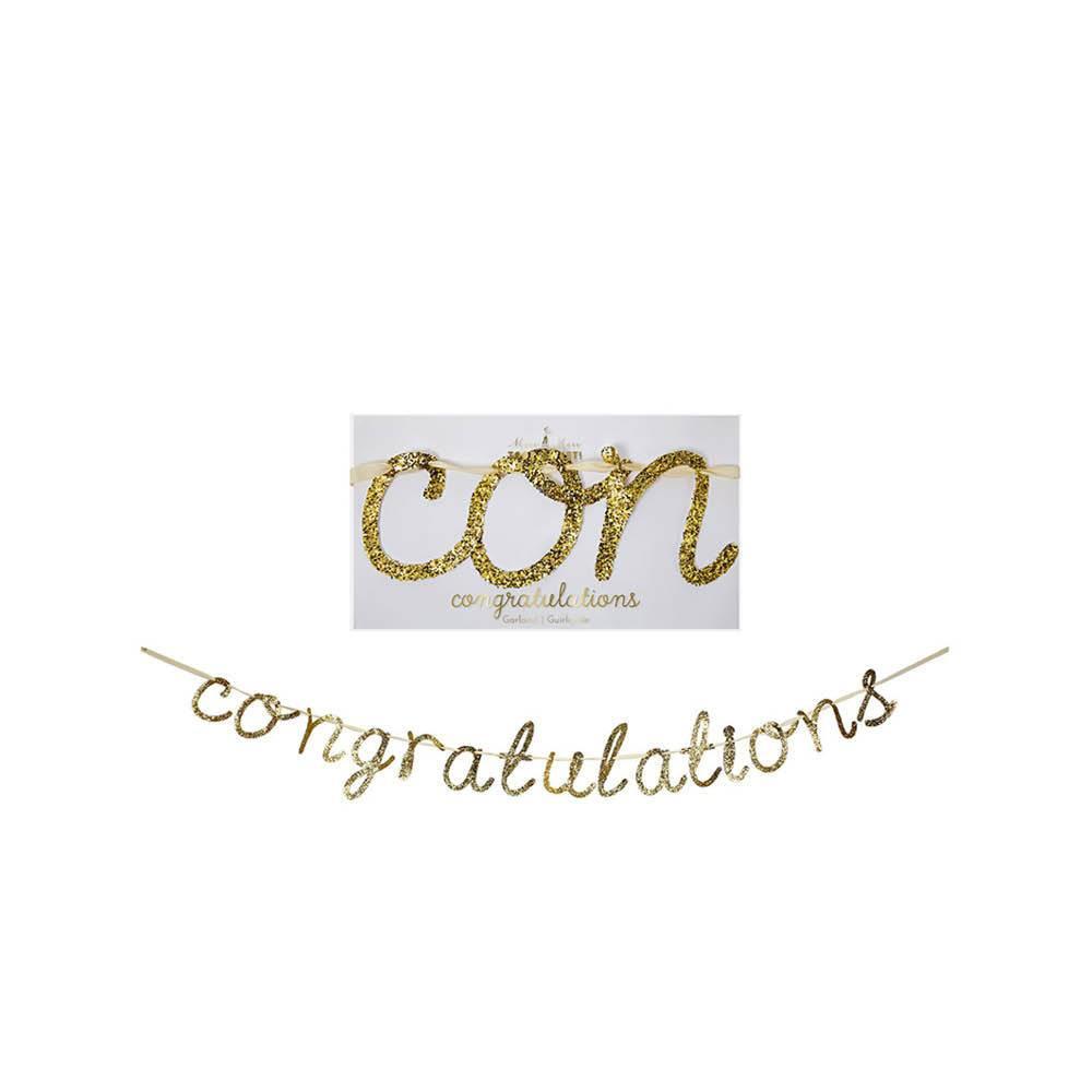 MERIMERI Congratulations garland