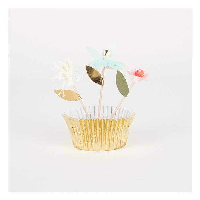 MERIMERI Flower cupcake kit