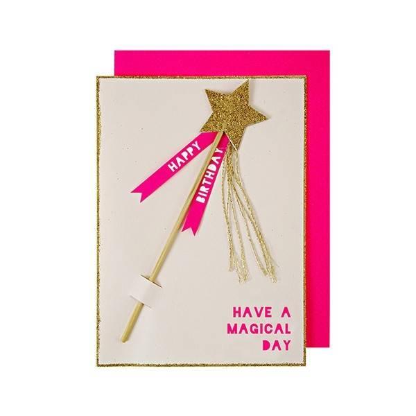 MERIMERI Magic Wand Birthday Card
