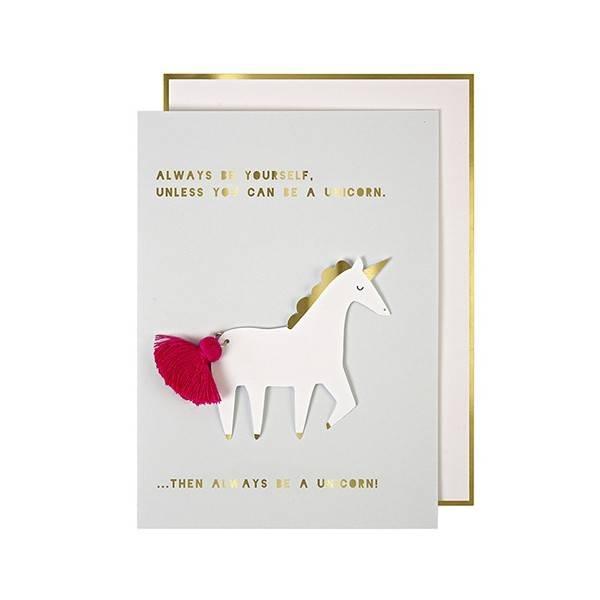 MERIMERI Unicorn with Tassel Card