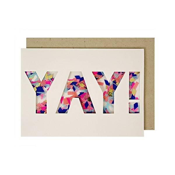 MERIMERI Yay confetti card