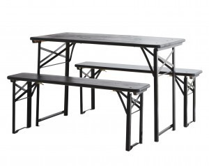MADAM STOLTZ foldable table set black size S