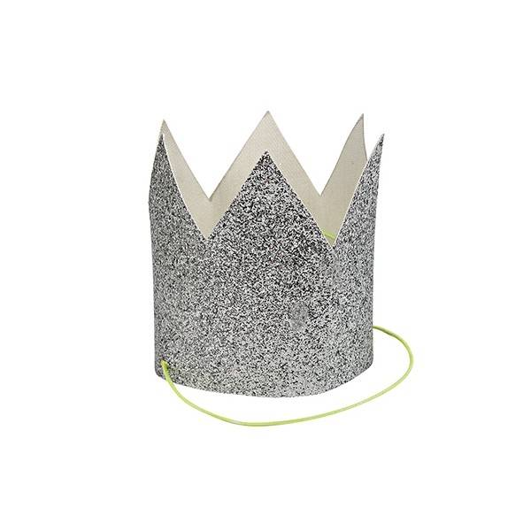 MERIMERI Mini silver glitter crown