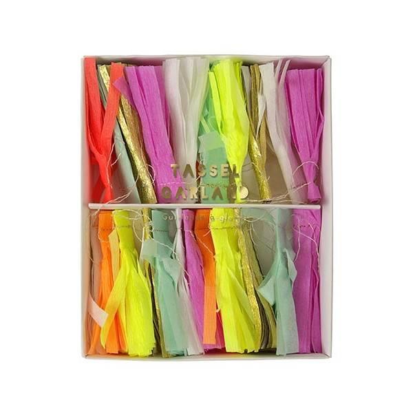 MERIMERI Neon tassels mini garland