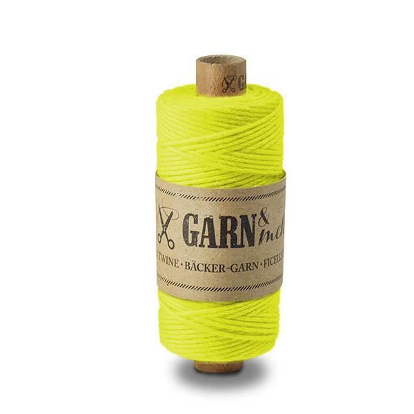 Garn & Mehr bakers twine neon yellow