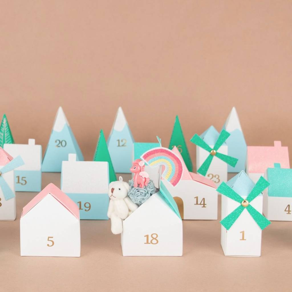 MERIMERI 3D village advent calendar