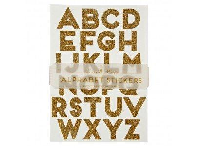 MERIMERI Gold glitter alphabet stickers