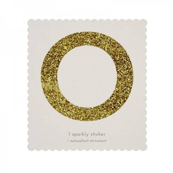 MERIMERI Glitter alphabet stickers O