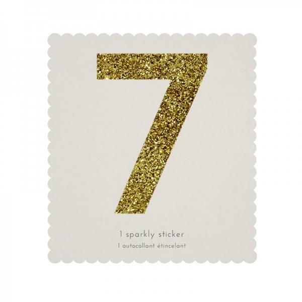 MERIMERI Glitter alphabet stickers 7