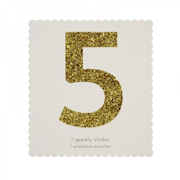 MERIMERI Glitter alphabet stickers 5