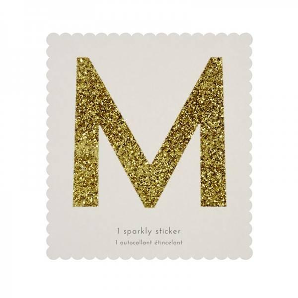 MERIMERI Glitter alphabet stickers M