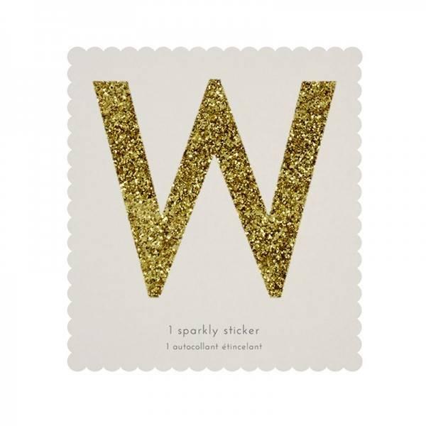 MERIMERI Glitter alphabet stickers W