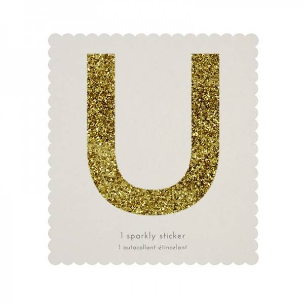 MERIMERI Glitter alphabet stickers U