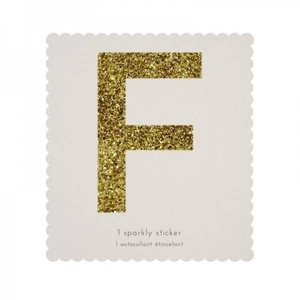 MERIMERI Glitter alphabet stickers F
