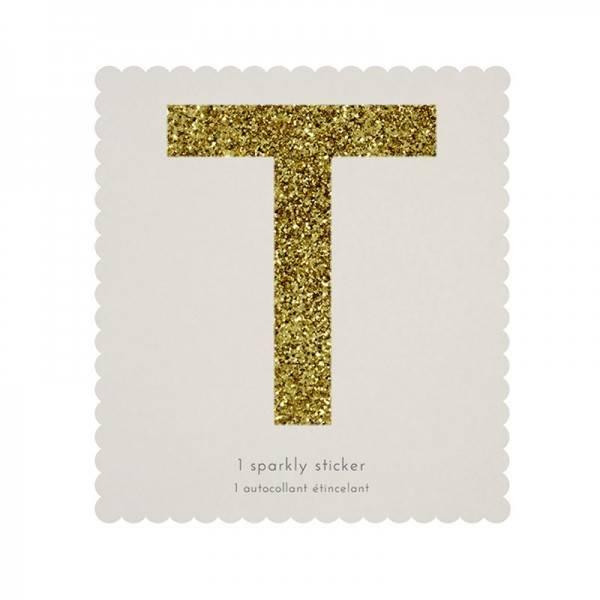 MERIMERI Glitter alphabet stickers T