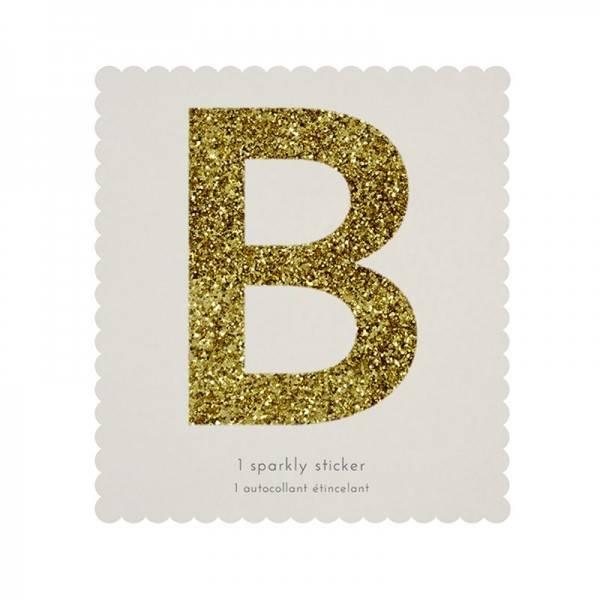 MERIMERI Glitter alphabet stickers B