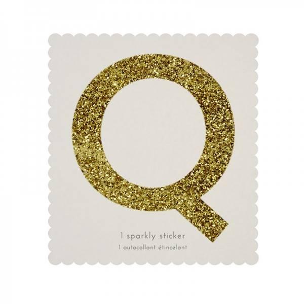 MERIMERI Glitter alphabet stickers Q