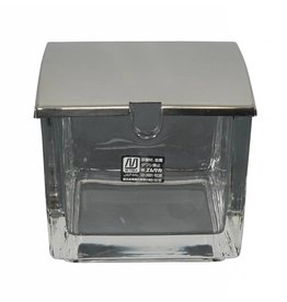 Tokyo Design Studio Kitchen Glass gingerbox  8x8x7cm with stainless steel lid