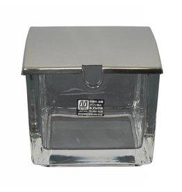 Tokyo Design Studio Kitchen Glazen gemberdoosje  8x8x7cm met inox deksel