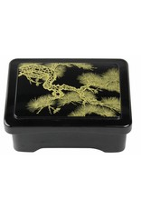 Tokyo Design Studio ABS Lacquerware Unagi doos 16.5x14x7cm zwart/bamboo