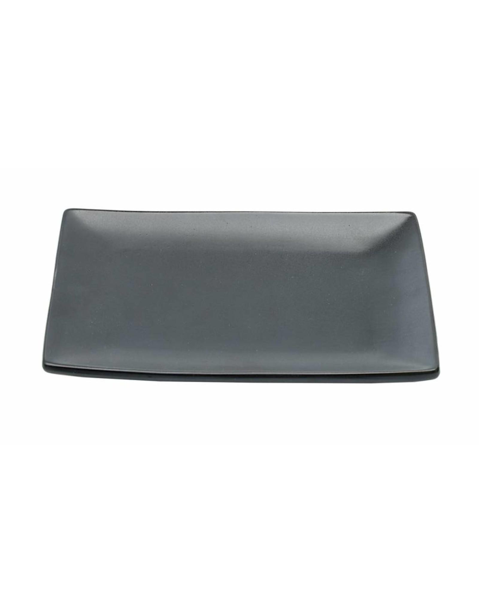 Tokyo Design Studio Black Series bord 17.5x12.5cm mat zwart