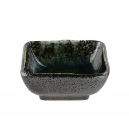 Tokyo Design Studio Vierkante sausschotel Choku Yuzu 7.5x7.5cm zwart/blauw
