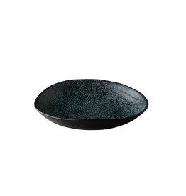 Stylepoint Chameleon diep bord zwart met blauwe spikkels 24cm