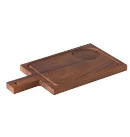 Stylepoint Acacia plank met handvat 35 x 18 cm incl inkeping voor kom